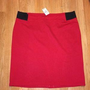 Ashley Stewart Red Skirt